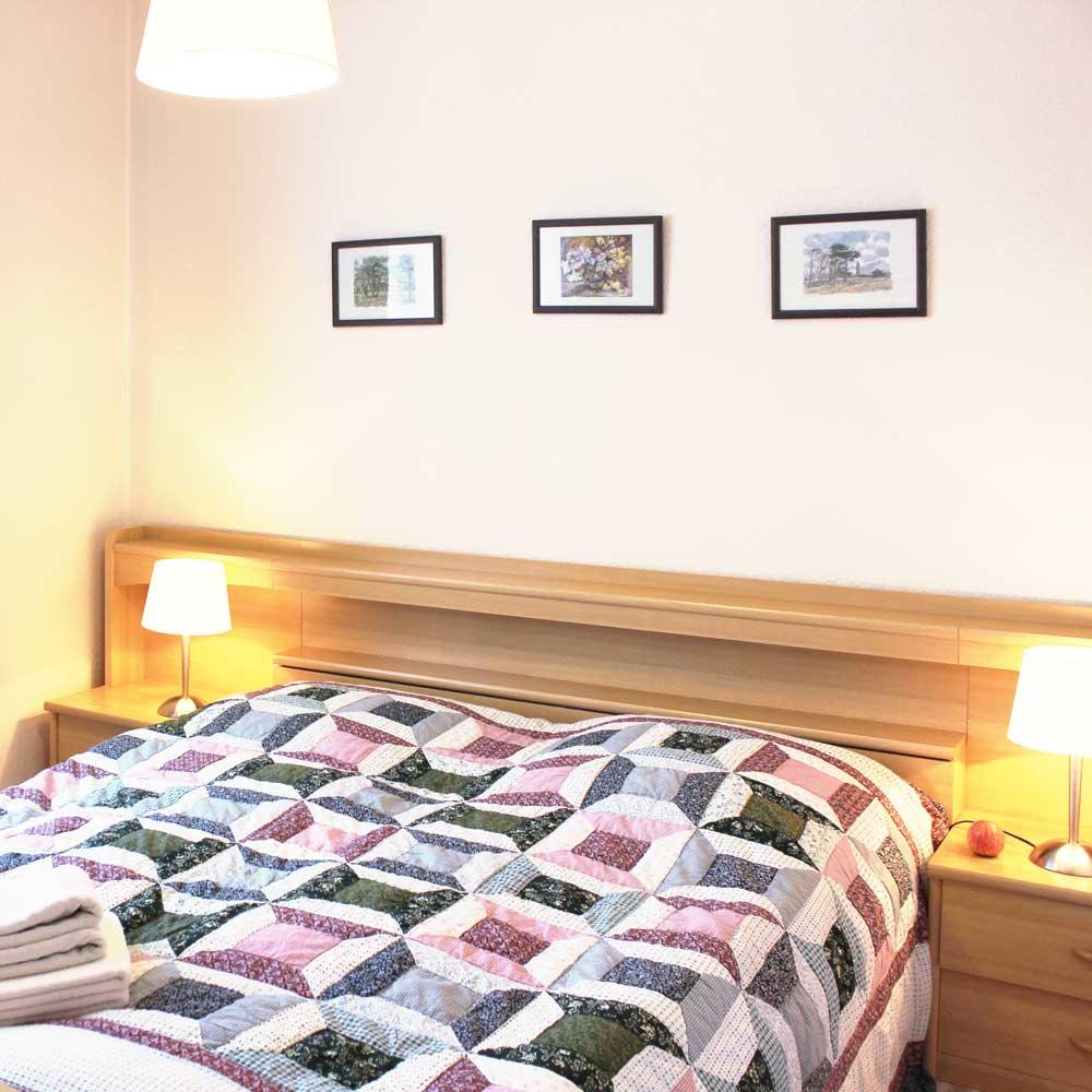 Schlafzimmer der Ferienwohnung Heunergott (bis 6 Pers.)