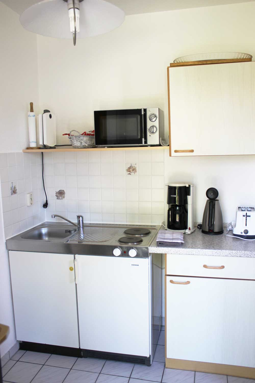 Küche der Ferienwohnung Seemööv (2-3 Pers.)