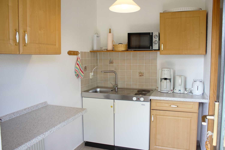 Küche der Ferienwohnung Windharfe (2-3 Pers.)