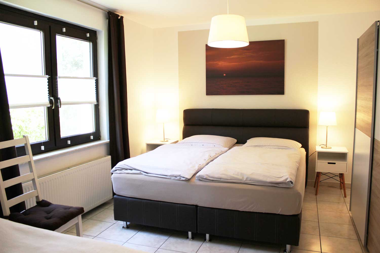 Schlafzimmer der Ferienwohnung Seemööv (2-3 Pers.)