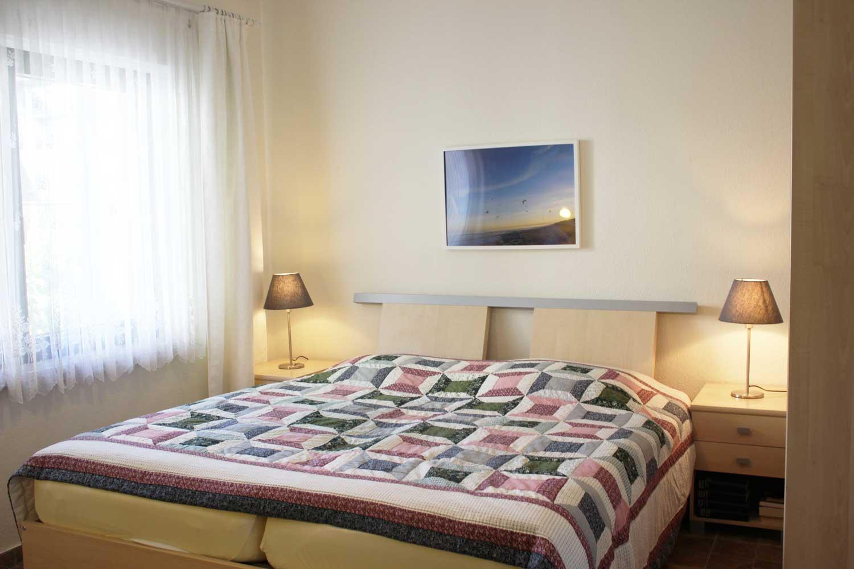 Schlafzimmer der Ferienwohnung Dwarsloeper (bis 4 Pers.)