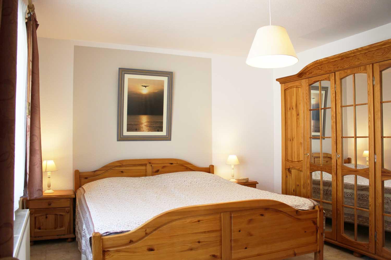Schlafzimmer der Ferienwohnung Windharfe (2-3 Pers.)