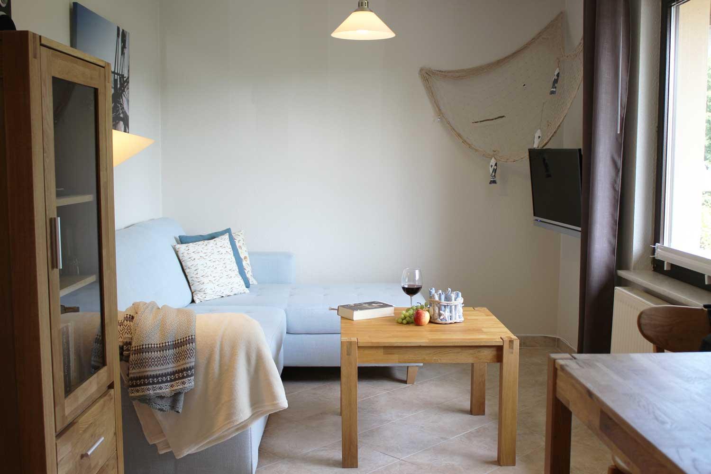 Wohnzimmer der Ferienwohnung Windharfe (2-3 Pers.)