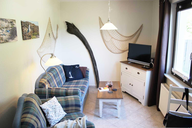 Wohnzimmer der Ferienwohnung Seemööv (2-3 Pers.)