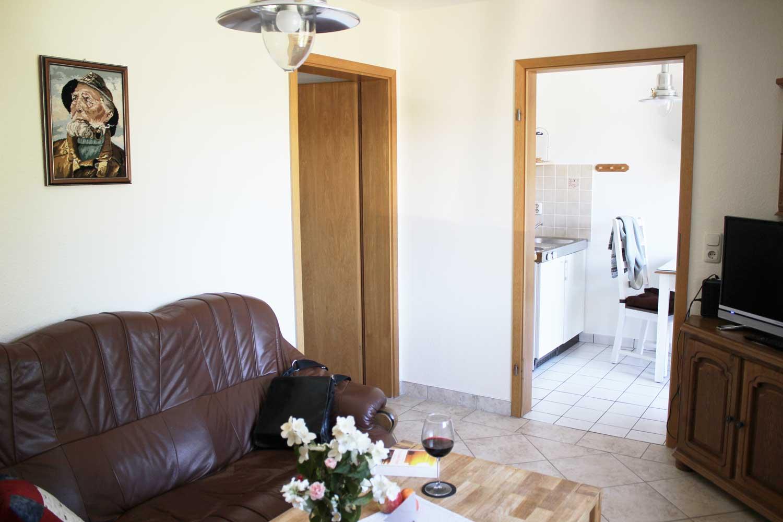Wohnzimmer der Ferienwohnung Fisch und Schipp (bis 4 Pers.)